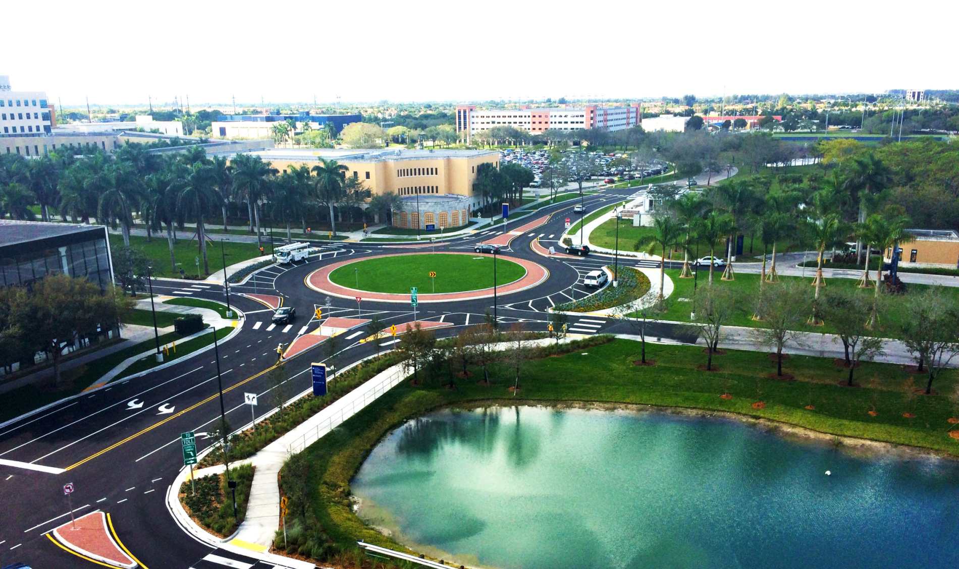 FIU Parking Garage & Roundabout