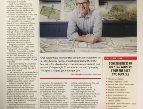Miller Legg featured in the South Florida Business Journal